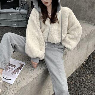 Fleece Hooded Zip-up Jacket / Jogger Pants