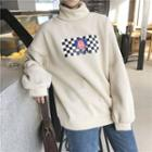 Mock Neck Printed Pullover