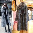 Cowl-neck Knit Coat