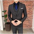 Set: Blazer + Double Breasted Vest + Dress Pants