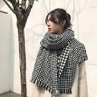Houndstooth Reversible Scarf As Shown In Figure - One Size
