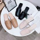 Loafer Block Heel Mules