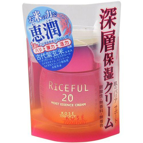 Kose - Riceful 20 Moist Essence Cream 50g