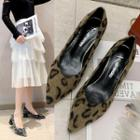Leopard Pointy Toe Pumps
