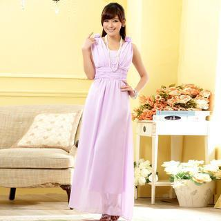 Sleeveless A-line Evening Gown