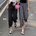 Dotted Harem Pants / Plaid Harem Pants