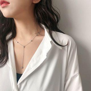 Rhinestone Y Necklace