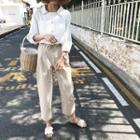 Plain Cropped Capri Pants