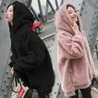 Plain Fleece Long-sleeve Hoodie