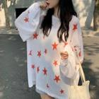 Star Pattern Knit Top