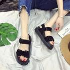 Platform Strappy Velcro Sandals