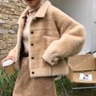 Furry Button-up Jacket