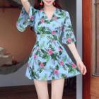 Floral Tie-waist Playsuit