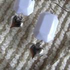 White Sweet Heart Earrings(s)