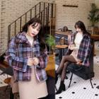 Plaid Faux-shearling Jacket