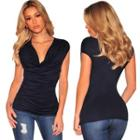 Cap-sleeve Shirred Top