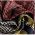 Houndstooth Satin Neck Scarf