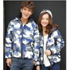Couple Camouflage Hooded Padded Jacket
