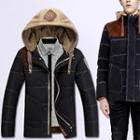 Panel Hooded Down Jacket