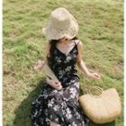 Spaghetti Strap Floral Print Chiffon Dress