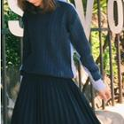 Long-sleeve Knit Panel Top