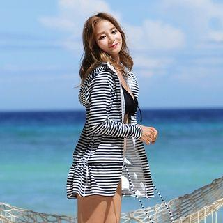 Striped Hooded Surf Top