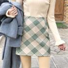 Diamond Patterned Mini A-line Skirt