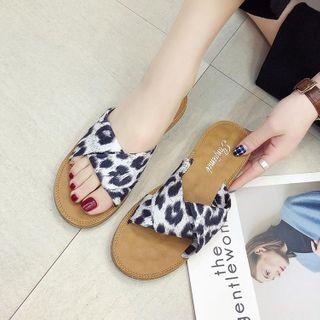 Leopard Twisted Slippers