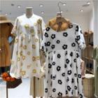 Flower Printed Short-sleeve Dress