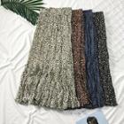 Leopard-print Chiffon Midi Skirt