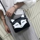 Fox-shaped Faux-leather Shoulder Bag
