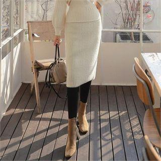 H-line Furry-knit Skirt