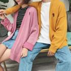 Couple Matching Embroidery Cardigan