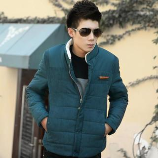 Stand-collar Padded Zip Jacket