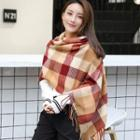 Fringed Stripe Winter Scarf