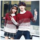 Couple Matching Gradient Sweater