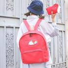 Lunch Box Print Canvas Backpack