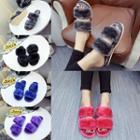 Faux-fur Slide Sandals