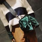 Bow Velvet Crossbody Bag