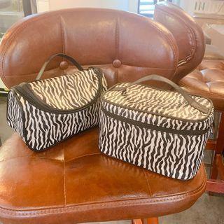 Zebra Print Makeup Bag