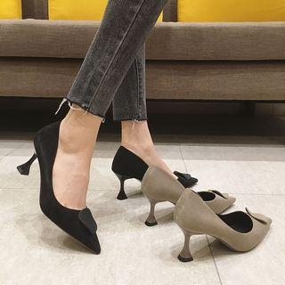 Disc Pointy High Heel Pumps
