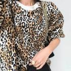 Leopard Pattern Oversized Pullover
