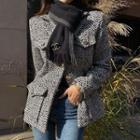 Epaulet Woolen Tweed Jacket