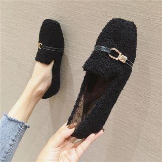 Fleece Buckled Loafers