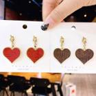 Knotted Heart Drop Earring