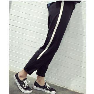 Contrast Trim Harem Pants