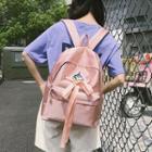 Unicorn Applique Canvas Backpack