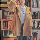 Plain Hooded Cape Jacket