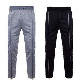 Drawstring Waist Zip Sweatpants