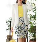 Chiffon-shawl Tailored Blazer